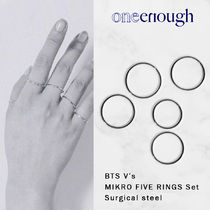 BTS V着用【ONE ENOUGH】Mikro Five Rings Set / Surgical steel
