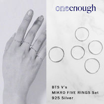 BTS V着用【ONE ENOUGH】Mikro Five Rings Set / 925 Silver