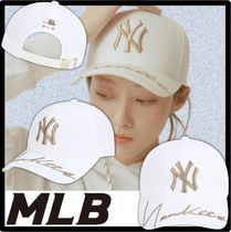 ★MLB KOREA★Sang Chang calligraphy curve adjustment cap★