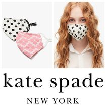 kate spade☆picture dot & spade flower non-medical mask set