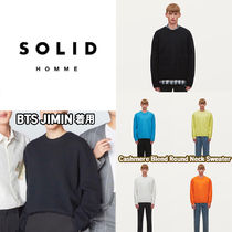 ★SOLID★BTS JIMIN着用 cashmere-blend round neck sweater