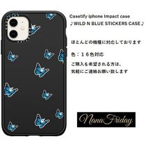 Casetify iphone Impact case♪WILD N BLUE STICKERS CASE♪