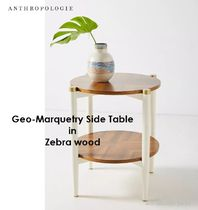 ANTHOROPOLOGIE * Geo-Marquetry Side Table Z サイドテーブル