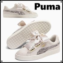 大人気♪【PUMA】Suede Heart Snake Lux Lace Up Sneakers 蛇柄