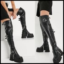 Lamoda chunky over the knee boot with chains