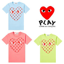 PLAY COMME des GARCONS(プレイコムデギャルソン) Tシャツ・カットソー 関送込 PLAY COMME des GARCONS★大人気ポルカドットロゴTシャツ