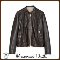MassimoDutti♪LEATHER JACKET WITH CENTRAL SEAM DETAIL