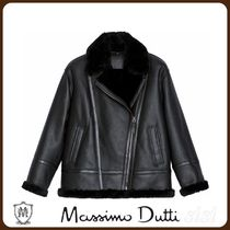 MassimoDutti♪MOUTON LEATHER BIKER JACKET