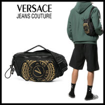 【Versace Jeans Couture】カジュアル モノグラム ベルトバッグ