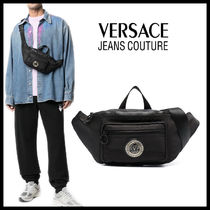【Versace Jeans Couture】ロゴパッチ バロック柄 ベルトバッグ