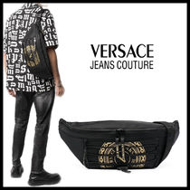 【Versace Jeans Couture】ゴールドサークルロゴ ベルトバッグ