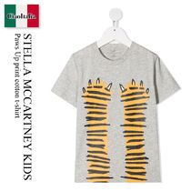 Stella Mccartney Kids Paws Up print cotton t-shirt