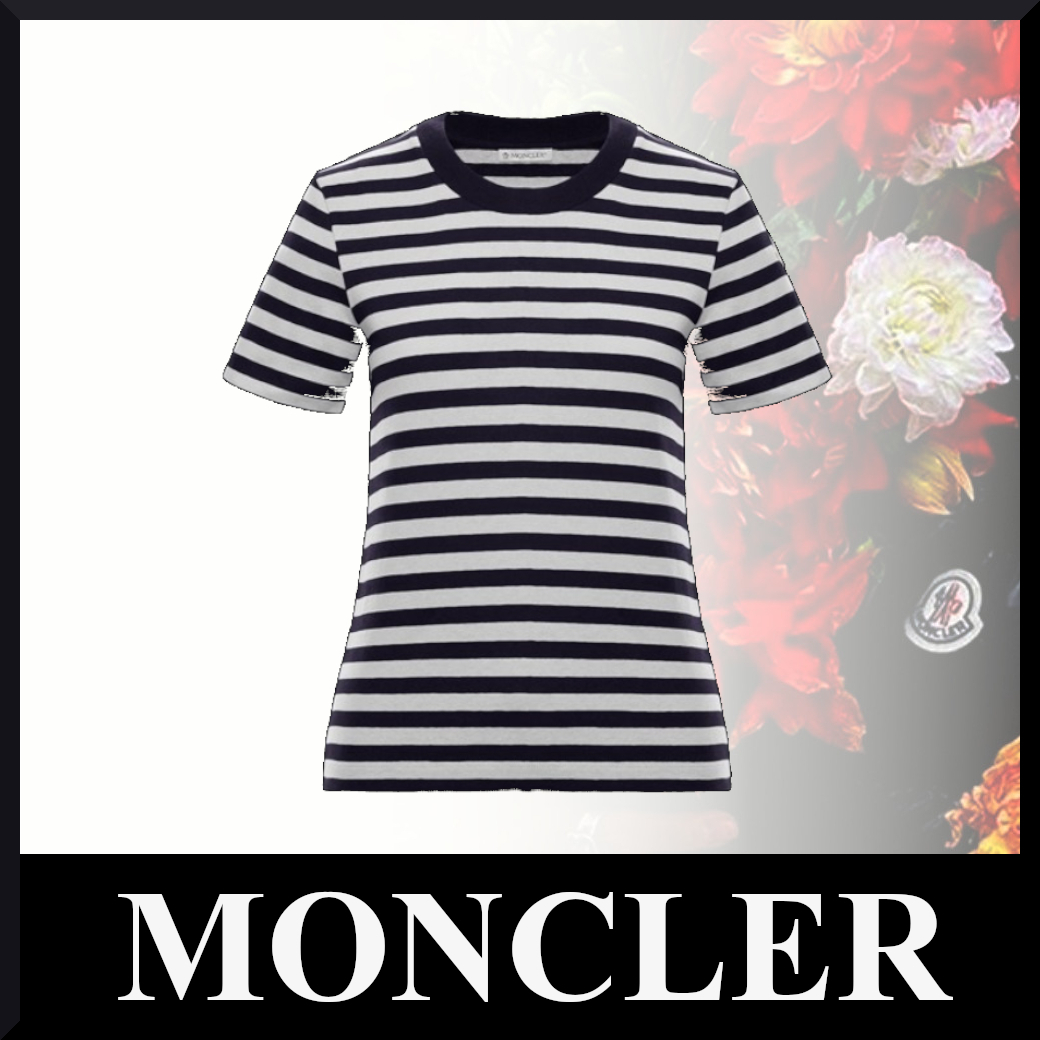 21SS【モンクレール】コットンBlu scuroTシャツ (MONCLER/Tシャツ・カットソー) 63835770