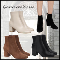 【4color】Gianvito Rossi MARGAUX MID BOOTIIE 黒 茶 ベージュ