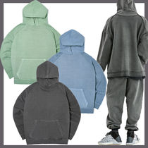 [ATTENTIONROW] Curve Tunnel Pigment Overfit Set-up Hoodie