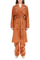 MSGM☆FAUX LEATHER TRENCH COAT