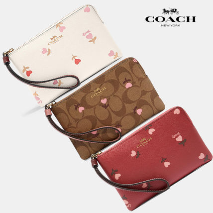 COACH〓Heart Floral リストレット ポーチ 小物入れ