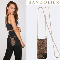 Bandolier★Gia Side Slot Crossbody レオパード柄*iPhone12対応