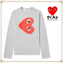 PLAY COMME des GARCONS(プレイコムデギャルソン) Tシャツ・カットソー 関送込★PLAY COMME des GARCONS★大人気ハートロゴ長袖Tシャツ