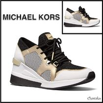 【MICHAEL KORS】Signature Logo Sneakers☆ウェッジスニーカー