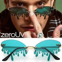 zeroUV(ゼロユーブイ) サングラス zeroUV*Oozing Melting EffectColorTintedLens Oval RimlessDrip