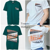 ◆ TOMMY JEANS ◆ フラッグ ロゴ バックプリントTシャツ 2色