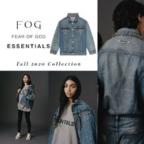 FOG Essentials 20FW Denim Trucker Jacket Distressed Indigo
