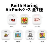 Keith Haring(キースへリング) テックアクセサリー Keith Haring☆クリアAirPods 1&2 Case キーホルダー付き全7種