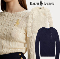 【Ralph Lauren】Beaded-Pony Cable-Knit Sweater 新作