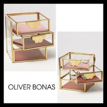 OLIVER BONAS(オリバーボーナス) 小物入れ(トレイ) 【OLIVER BONAS】Swivel Jewellery Trinket Box GOLD / PINK
