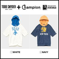 NEW!! ☆Todd Snyder + Champion☆ CUT OFF SHORT SLEEVE HOODIE