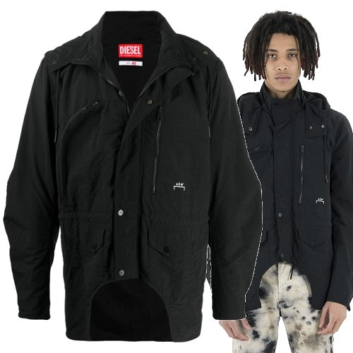 A-COLD-WALL★SALE!ACW* X DIESEL ナイロン ジャケット Black (A-COLD-WALL/ジャケットその他) ACWJK03GIACCA