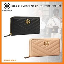 【Tory Burch】KIRA CHEVRON ZIP CONTINENTAL WALLET♪長財布♪