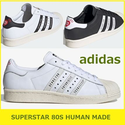 コラボ!【adidas】SUPERSTAR 80S HUMAN MADE スニーカー