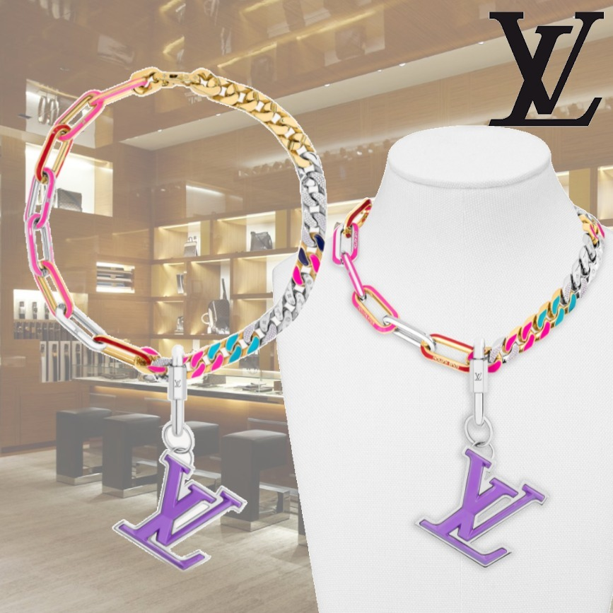21SS ルイヴィトン コリエ LVミックス チェーン ネックレス ロゴ (Louis Vuitton/ネックレス・チョーカー) MP2967