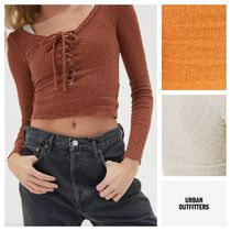 ★Urban Outfitters★リブ・レースアップ・トップス