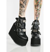 即納★国内発DOLLS KILL//MATTE LOW TRINITY BOOTS