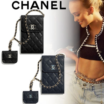 【CHANEL】21SS チェーン付きスマホケース&AIRPODS PROケース
