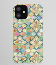 *Society 6* Guilded Moroccan mosaic  iPhone ケース