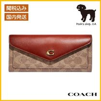 【COACH】Wyn Soft Wallet In Colorblock Signature◆国内発送◆