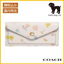 【COACH】Wyn Soft Wallet With Watercolor Floral◆国内発送◆
