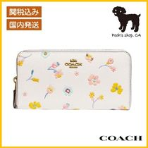 【COACH】Accordion Zip Wallet With Floral Print◆国内発送◆
