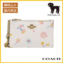 【COACH】Zip Chain Card Case With Floral Print◆国内発送◆