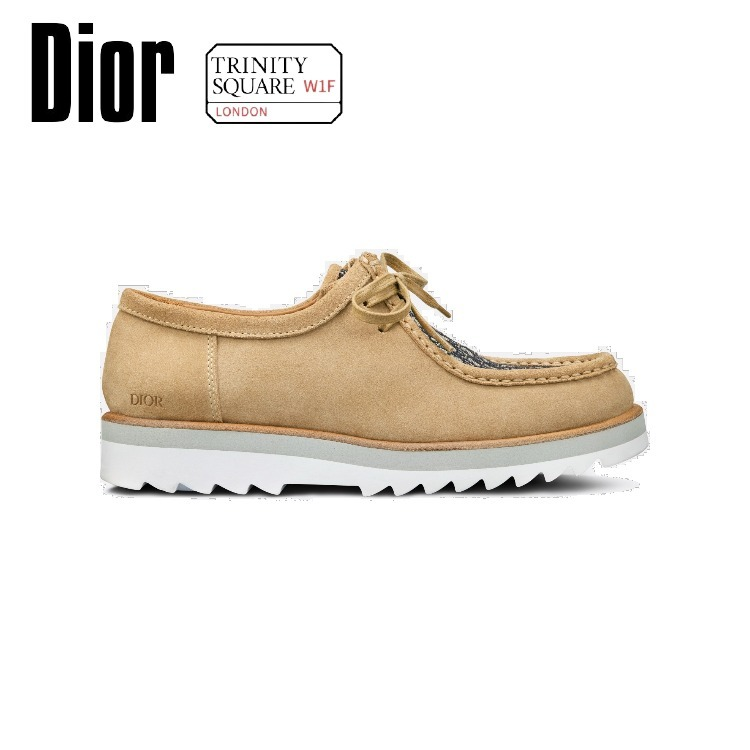 DIOR ディオール Lace-Up Shoe -Beige Suede with Beige and (Dior/靴・ブーツ・サンダルその他) 63922432