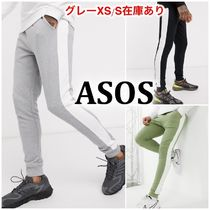 《ASOS》skinny joggers with side stripe