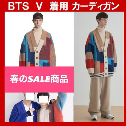 ★BTS V 着用★Trunk Project Color Mixed Wool Cardigan Jacket