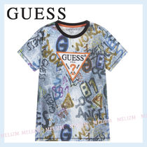 Guess(ゲス) キッズ用トップス Guess★大人もOK!Blue ロゴ Tシャツ★関送込