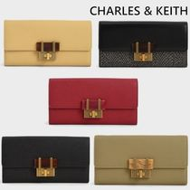 CHARLES&KEITH☆ストーン装飾☆ロングウォレット
