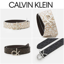UK発★CALVIN KLEIN CKモノグラム付きベルト
