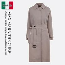 Max Mara The Cube Aimper cotton single-breasted trench coat